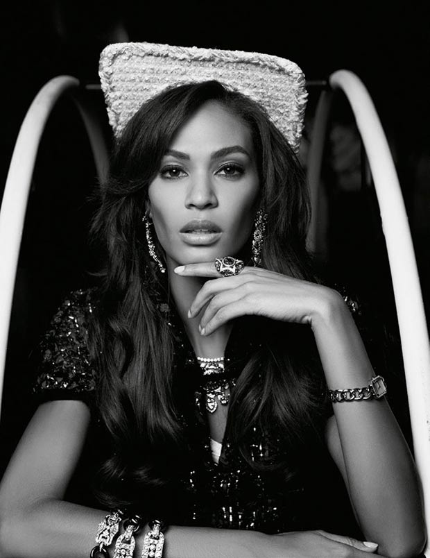 Vogue Spain December 2013 Joan Smalls by Lagerfeld