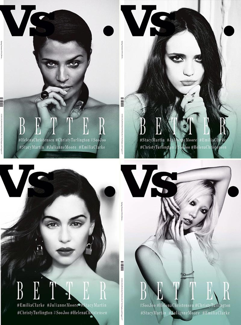 Vs Magazine Spring 2014 covers