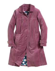 Boden Washed velvet coat purple