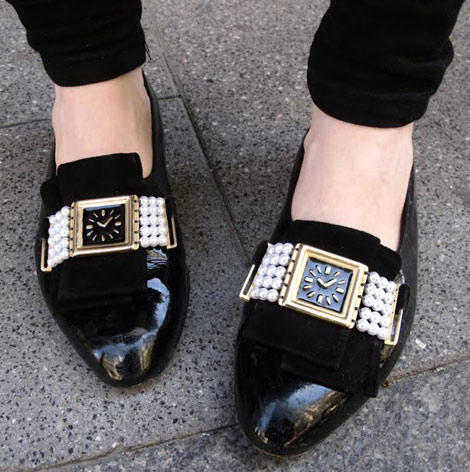 watch black patent leather shoes