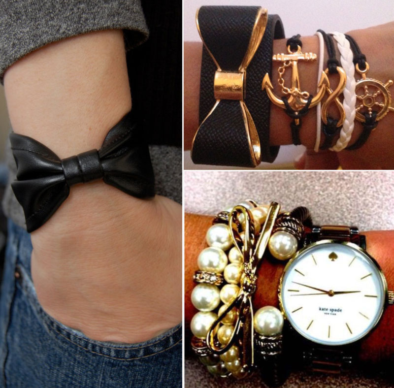 ways to wear bows bracelets