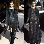 wear black fringes lace Fall 2013 Tom Ford