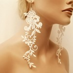 wedding earrings exceptionally beautiful lace earrings