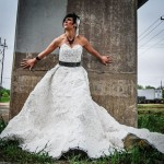 wedding paper dress from toilet paper