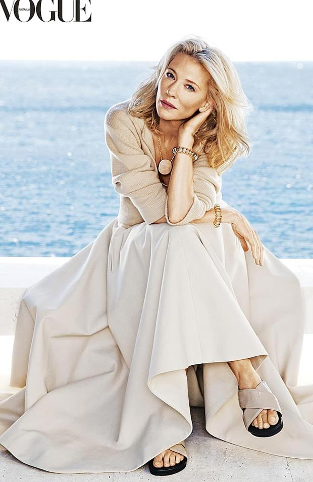 weird looking Cate Blanchett Vogue Australia 2014