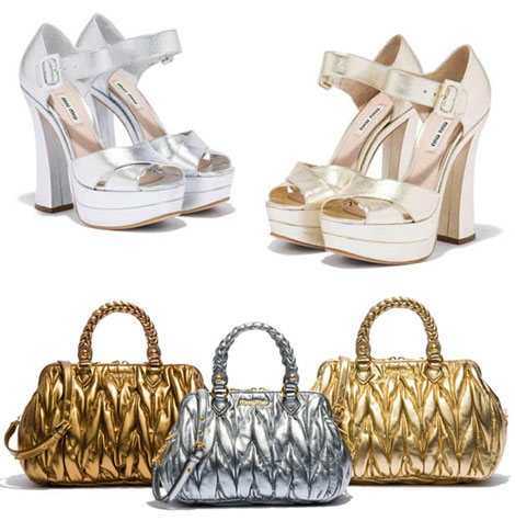 what to wear for the Olympics Miu Miu sandals and bags