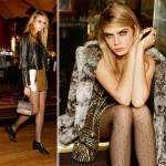 what to wear for the Holidays party Topshop gold ad Cara
