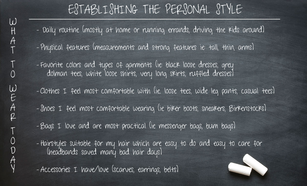 what to wear today establishing the personal style