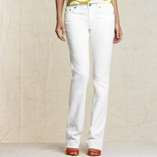 White Boot Cut Jean JCrew