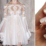 white bridal nail wraps Revlon Marchesa
