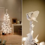 White Christmas tree dove atop Jeff Garofalo