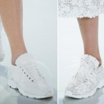white couture sneakers Chanel