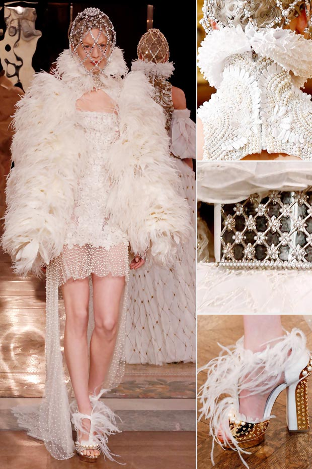 white fall 2013 Alexander McQueen collection