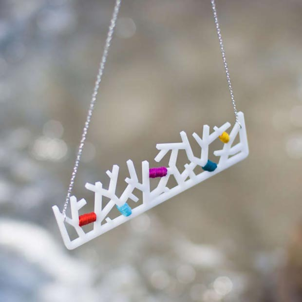 white forest necklace by EVRT studio