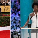 white Max Mara dress Viola Davis 2015 SAG Awards winner