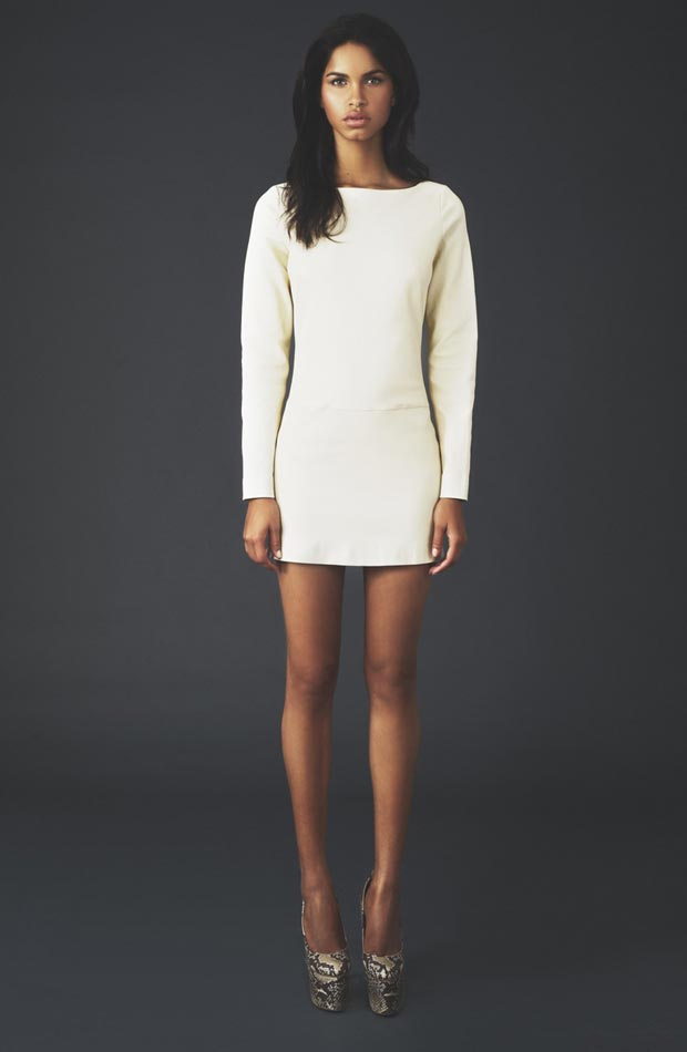 white mini leather dress worn by Beyonce
