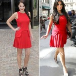 who wore the same Alexander McQueen red dress as the Duchess