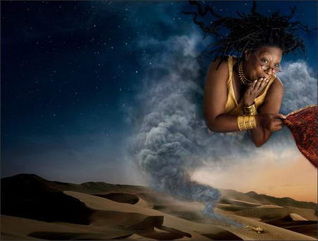 Whoopi Goldberg Disney Genie from Alladin by Annie Leibovitz