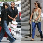 wide leg jeans better than skinny jeans Katie Holmes