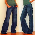 Wide leg jeans boyfriend fit