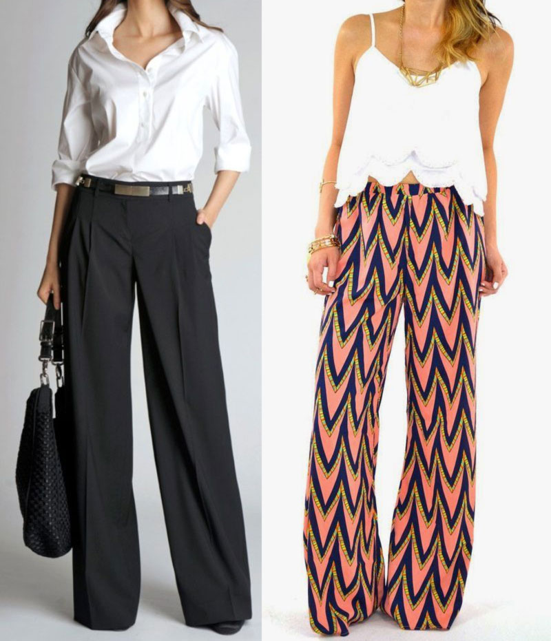 wide leg pants office wear casual wear
