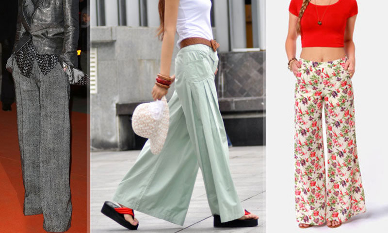 wide leg pants winter summer