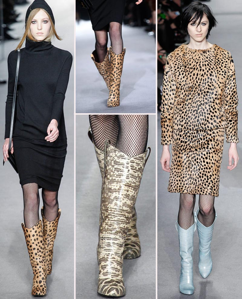 wild print boots Fall 2014 Tom Ford