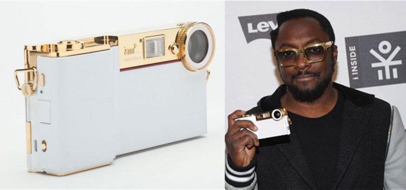 Will I Am promoting his new phone gadget