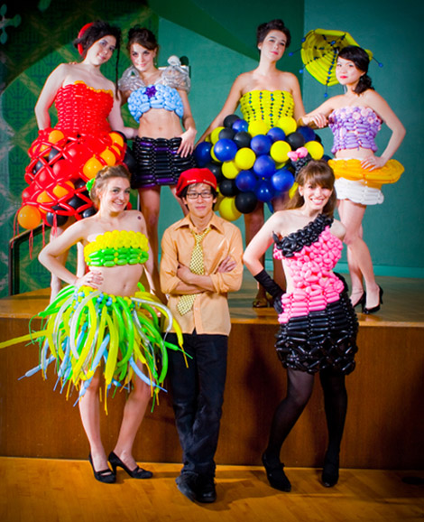 The Designer And His Colorful Models