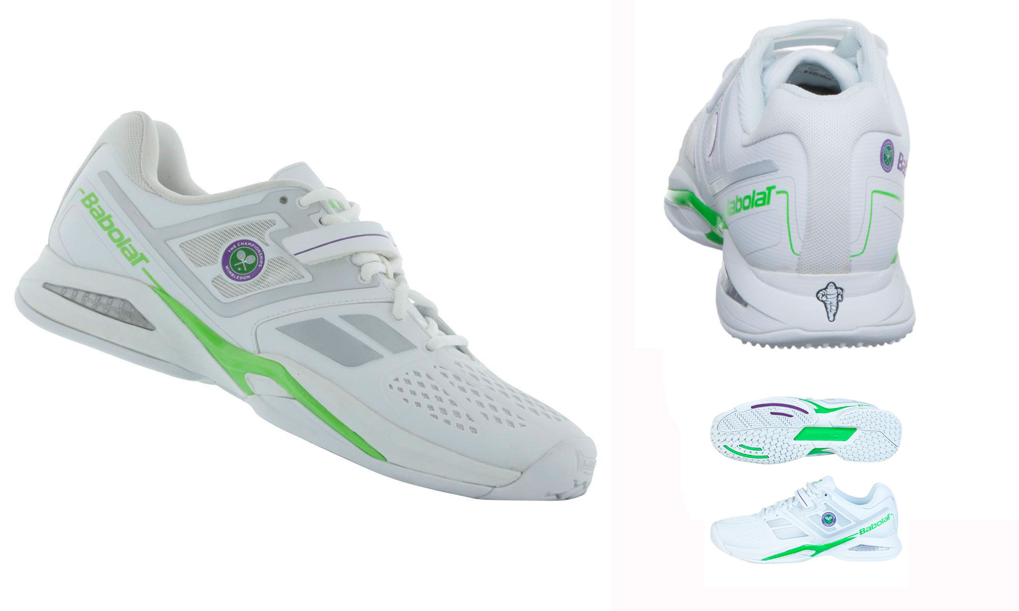 Wimbledon 2015 ball girls boys Babolat tennis shoes