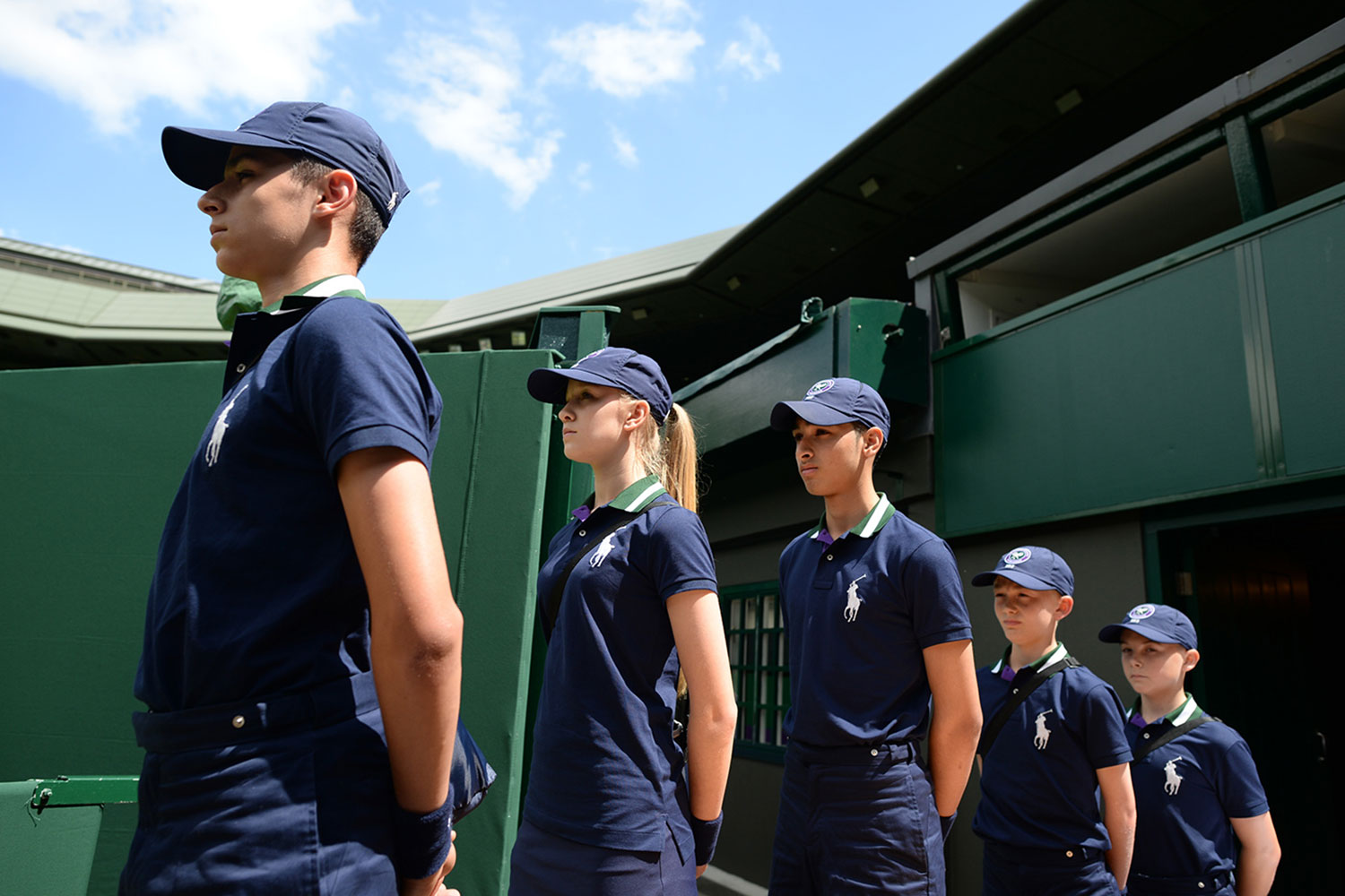 Wimbledon ball boys and girls Ralph Lauren Uniforms