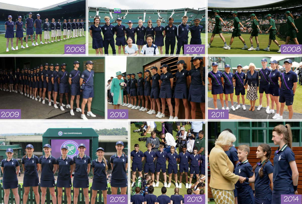 Wimbledon ball boys and girls uniforms Ralph Laurent 2006 2014