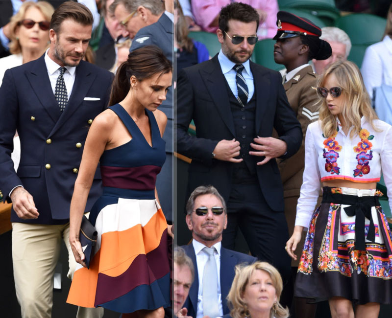 Wimbledon fashion bright skirts Victoria Beckham Suki Waterhouse