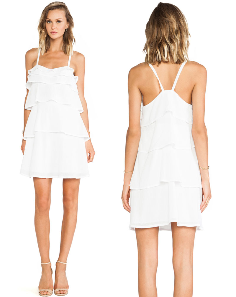 Wimbledon fashion inspiration ruffled white dress