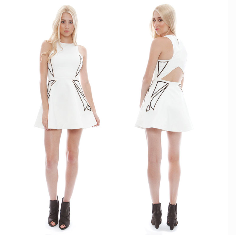 Wimbledon fashion inspiration white cutout dress