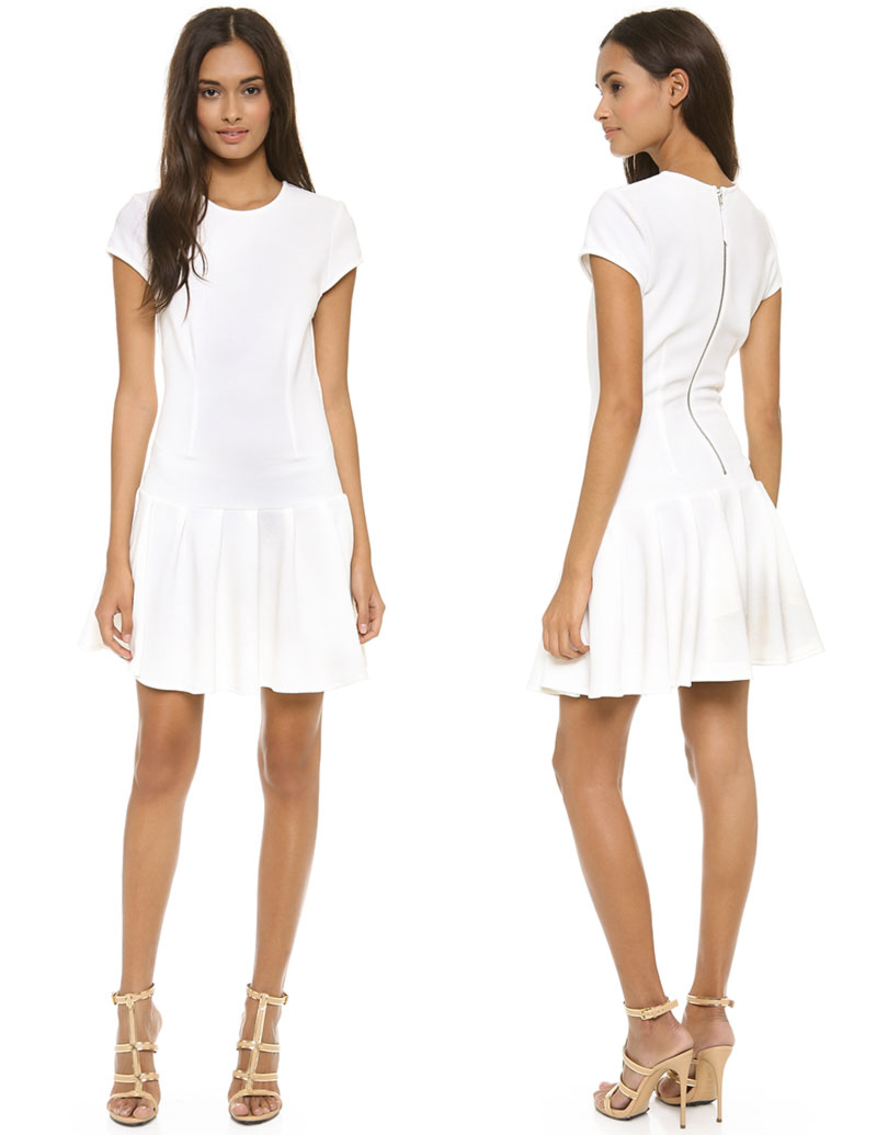 Wimbledon fashion inspiration white drop waist dress