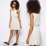 Wimbledon fashion inspiration white elastic waist dress