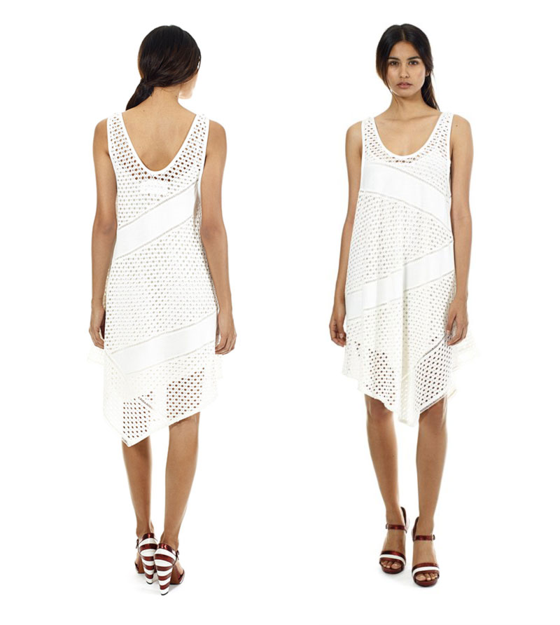 Wimbledon fashion inspiration white eyelet dress