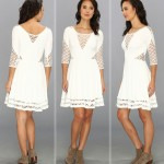 Wimbledon fashion inspiration white lace cutouts dress