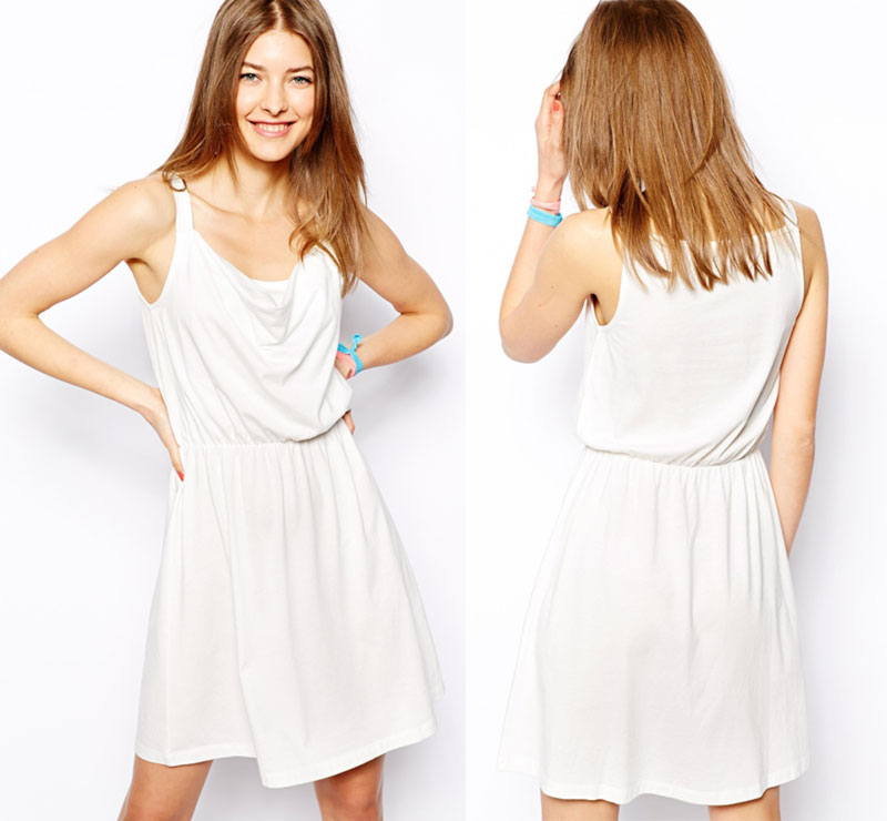 Wimbledon fashion inspiration white scoop neck dress