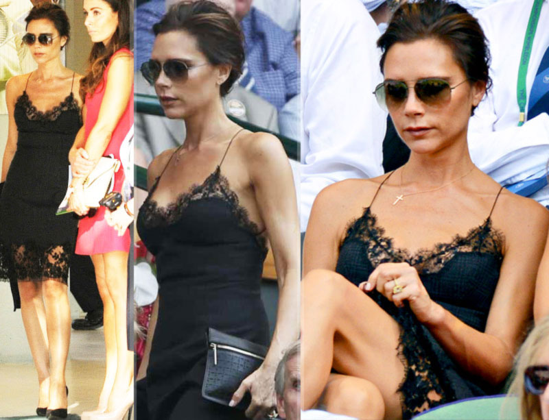 Wimbledon fashion Victoria Beckham 2013 Louis Vuitton dress