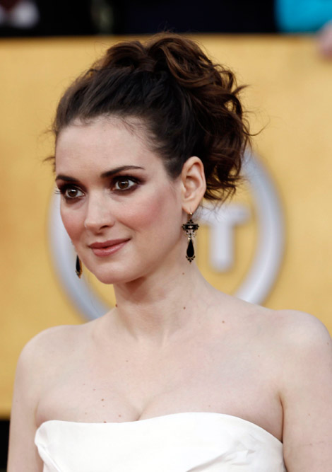 Winona Ryder white dress 2011 SAG awards