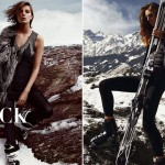winter slopes fashion Daria Werbowy Nadeja Savcova