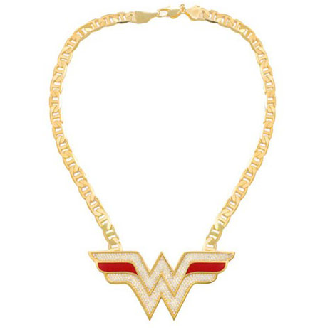 Wonder Woman necklace DC Comics Noir Jewelry
