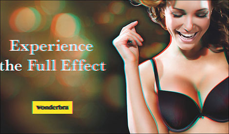 Wonderbra 3D new Ad Campaign