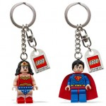 Wonder woman Superman Lego keychain lights