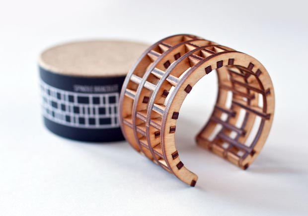 wood cuff by EVRT Studio