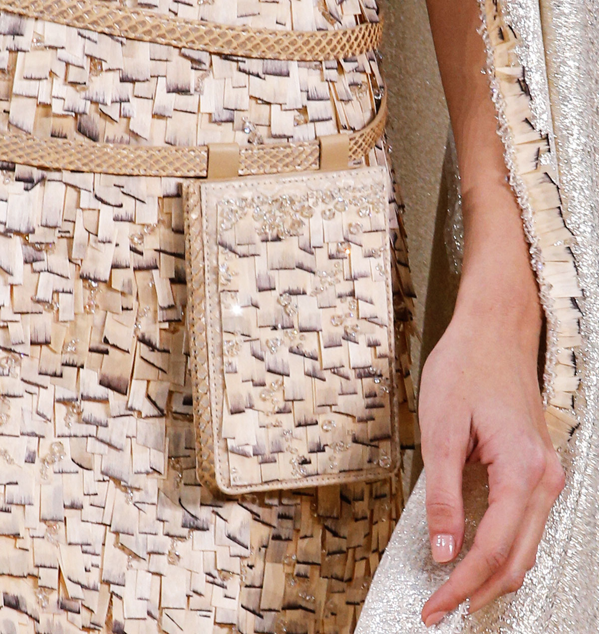 wood dress Chanel Couture Spring 2016