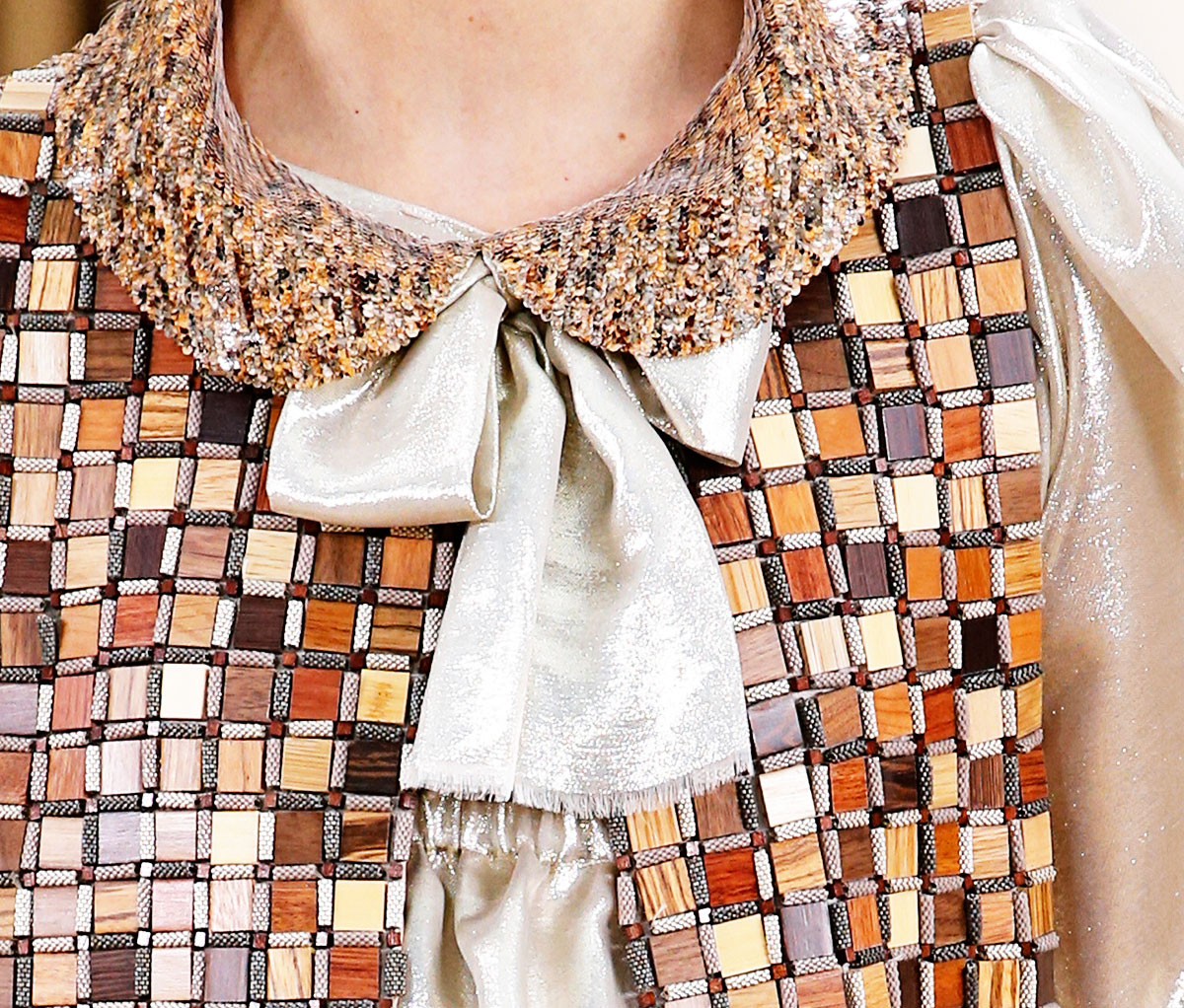 wood vest Chanel Couture Spring 2016