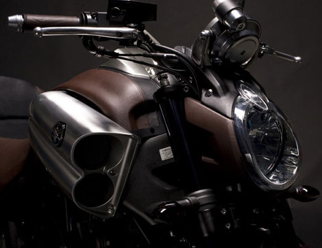 Yamaha Hermes leather details VMax